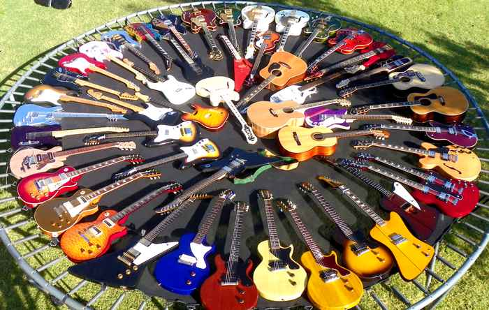 Collection de guitares