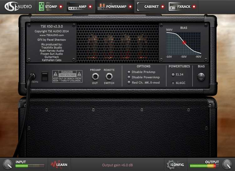 TSE Audio X50 version 2.3 - PowerAmp